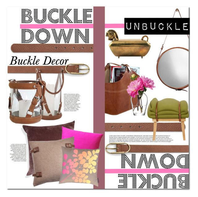 """Buckles!"" by qrystal5to9 ❤ liked on Polyvore featuring interior, interiors, interior design, Zuhause, home decor, interior decorating, MANGO, Jamie Young, Eichholtz und A1 Home Collections"
