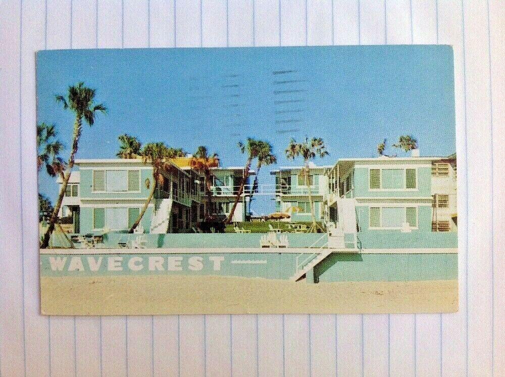 Postcard Daytona Beach Florida Wavecrest Apartment Motel Ocean Ave 1950s Daytona Beach Florida Florida Beaches Daytona Beach