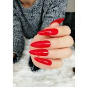 Sexy Ballet Blood Extra Long Fake Nails Pure RedCoffin Nails -Matte Nails -Press On Nails -Nude Nails  Gel Nails  Artificial Nails #longnails