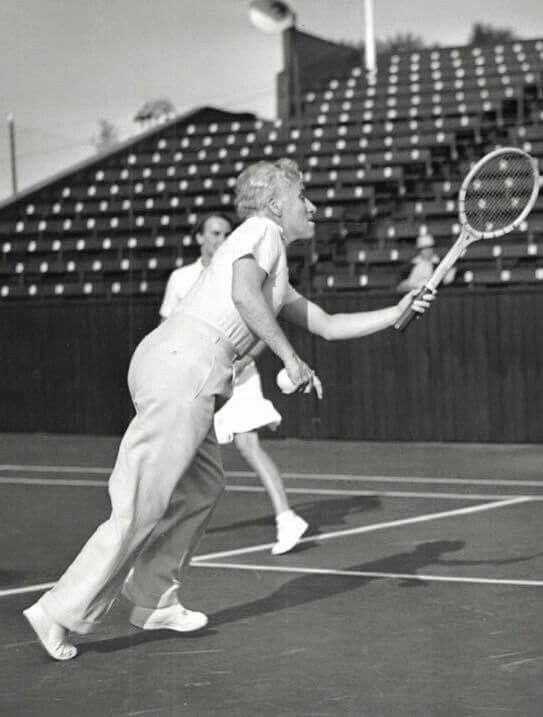 Charlie playing tennis