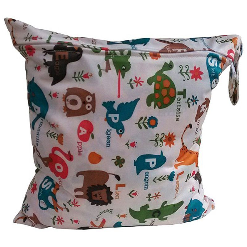 Waterproof Reusable Baby Cloth Diaper Nappy Wet /& Dry Bag Swimmer
