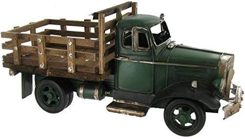 Amazon.com: Green Truck with Wooden Flat Bed Decor ...