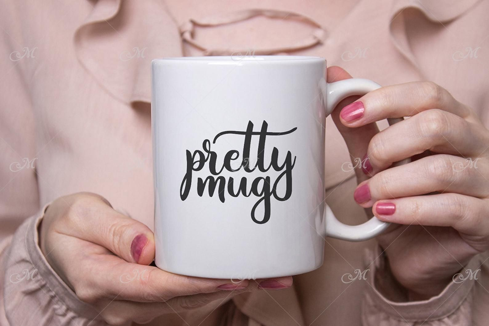 Pretty Mug Mockup Psd Smart Object Jpeg Photo White Coffee Etsy Design Mockup Free Pretty Mugs Mockup Psd