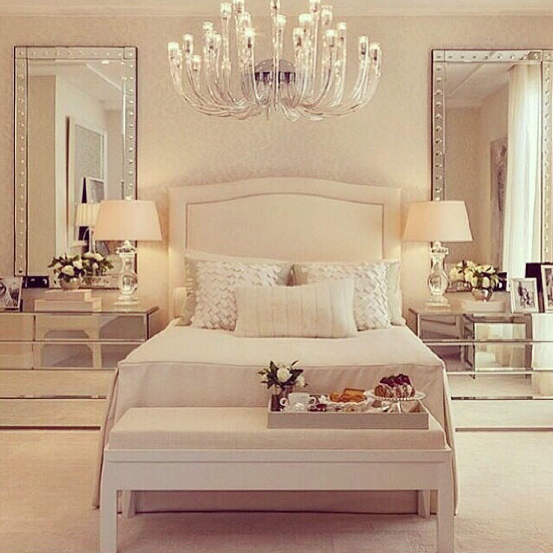 A White Elegant Bedroom Master Bedrooms Decor Master Bedroom