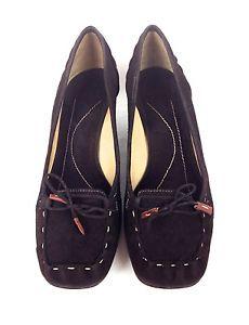 Kate Spade Shoes Suede Brown Italy Slip on Moccasins Trendy Heels Kitten 8 5 B | eBay