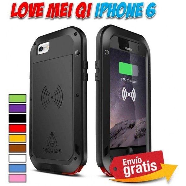 11dc696f6e6 Fundas y carcasas iPhone 6 metalica aluminio Love Mei cargador Qi ...