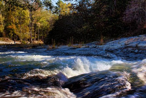 The Lower Mountain Fork River Runs Through Beavers Bend State Park In  Broken Bow, Oklahoma