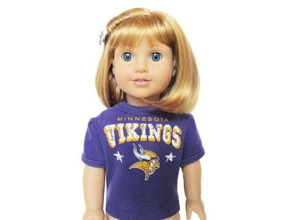 Minnesota Vikings Football Shirt for American by kkdesignerdolls, $18.99