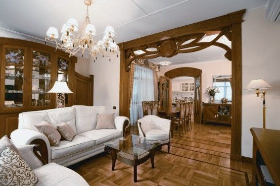Luxury Classic Apartment Design, Art Nouveau Style By Daria Grigorieva Part 87