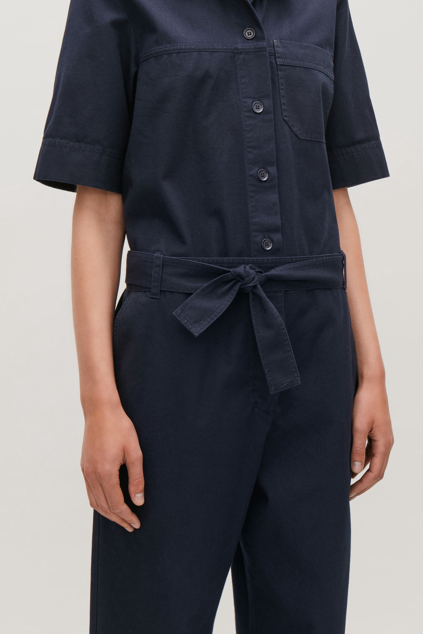 0dceb355cd99 BELTED COTTON JUMPSUIT - navy(OUT OF STOCK) by COS in 2019 ...