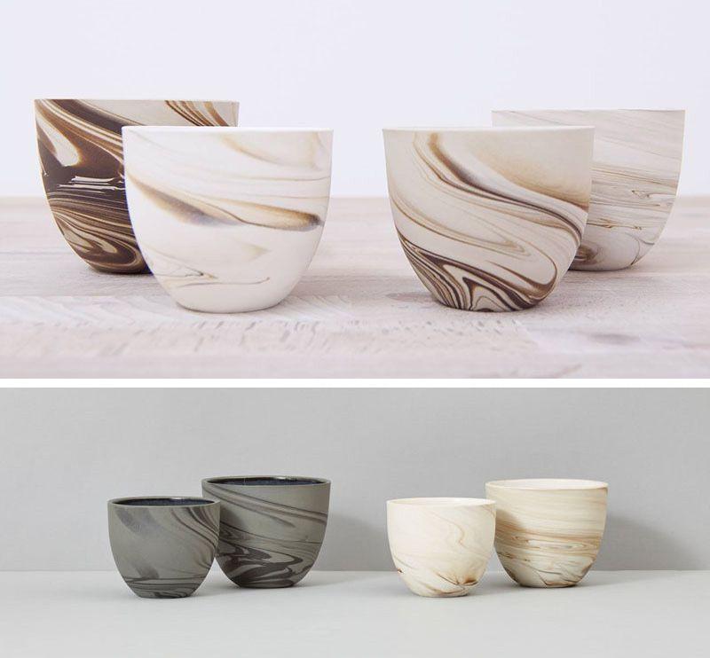 A Collection Of Espresso Cups Designed With Unique Decorative