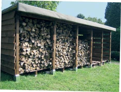 Kaminholzunterstand  Kaminholzunterstand selber bauen Brennholz Tipps max 33cm lang und ...