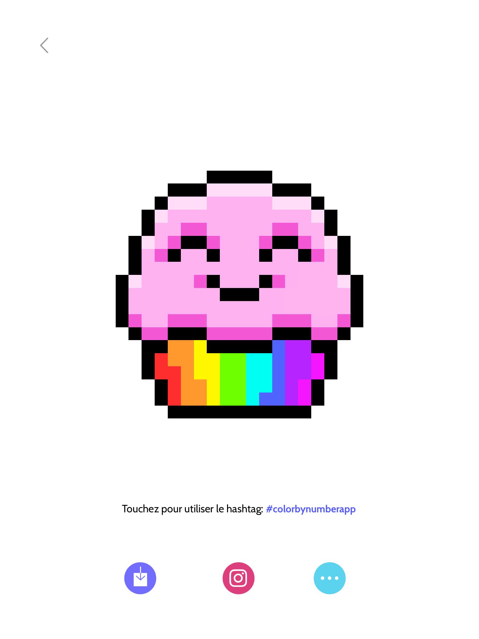 Petit Gâteau Content En Pixel Art