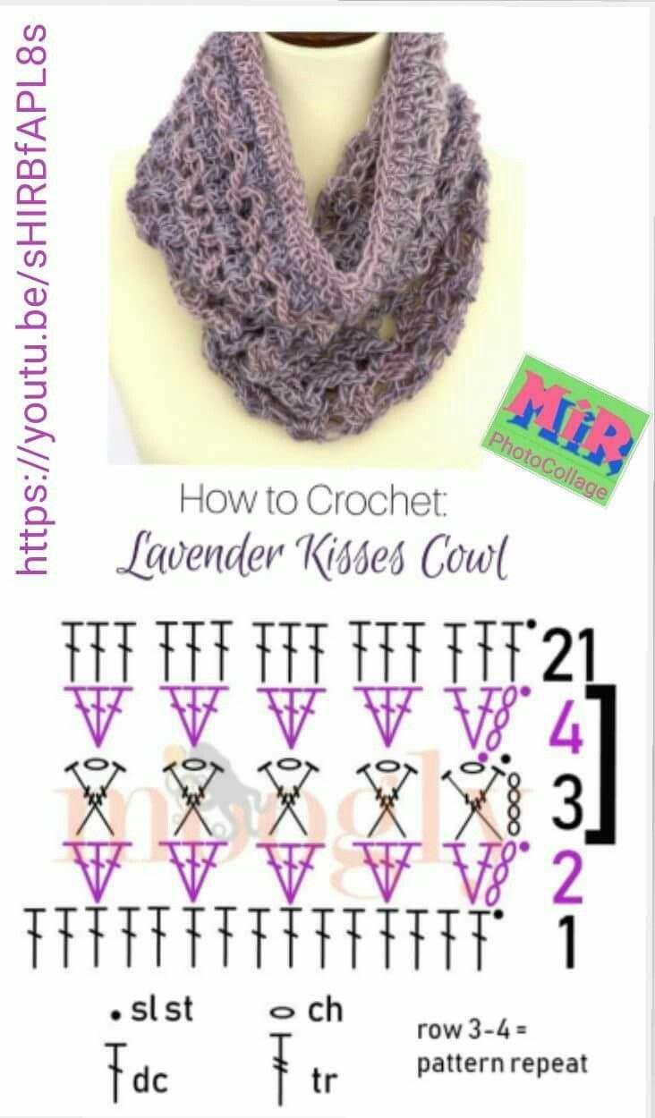 Pin de Carmela en Scaldacollo   Pinterest   Chal, Crochet bufanda y ...
