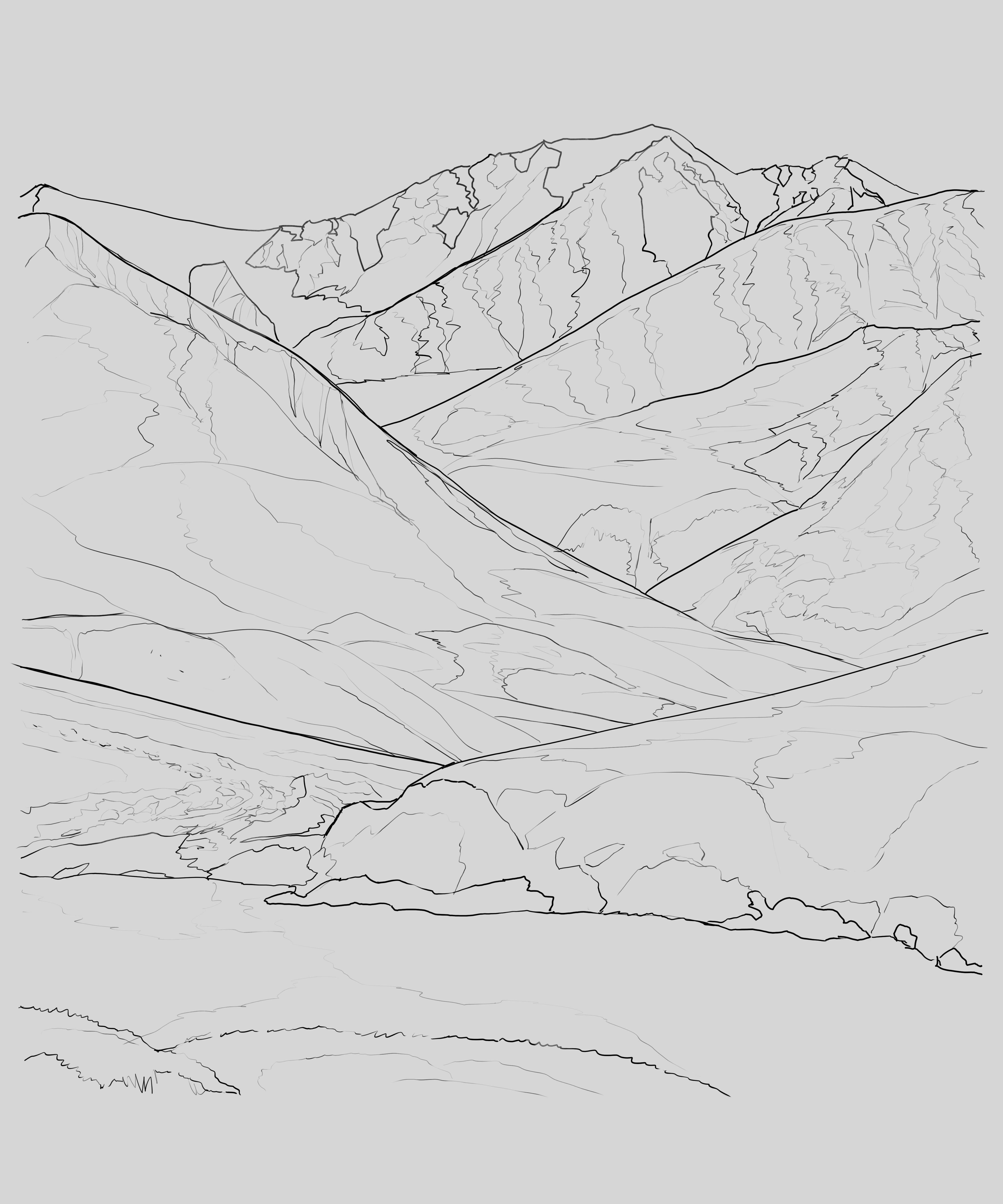 Mountain Valley Hopefully The Shapes Are Easy To Read Drawings
