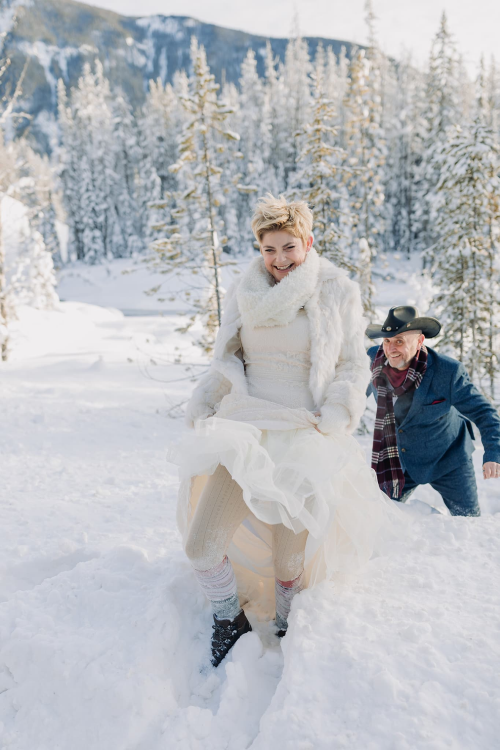 New Year's Eve Elopement Emerald Lake Lodge winter wedding