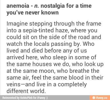 31++ Anemoia definition information