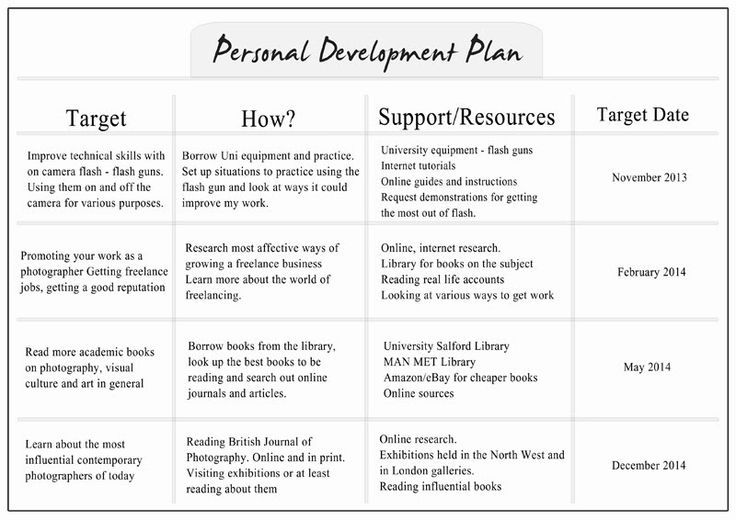 Personal Growth Plan Example  Google Search  Growth Plan