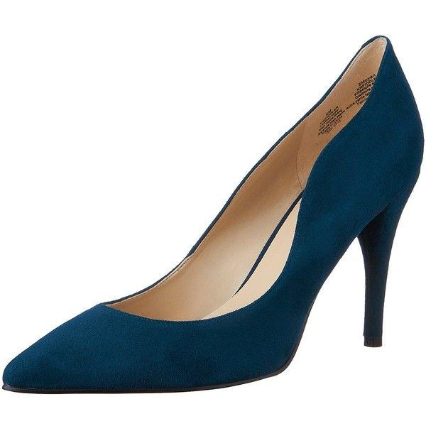 Nine West Women's Fiddler Suede Dress Pump ($57) ❤ liked on Polyvore featuring shoes, pumps, heels, nine west shoes, suede pumps, dress pumps, heel pump and nine west pumps