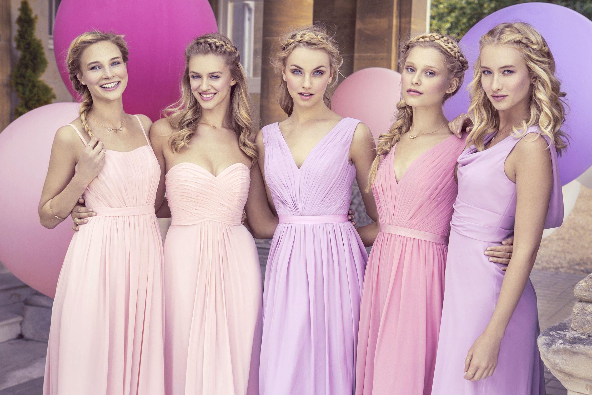 Pastel pink bridesmaid dress  The kelsey rose bridesmaids  collection wedding dresses