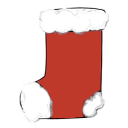 Christmas craft for kids - stocking. Color, cut out, and glue
