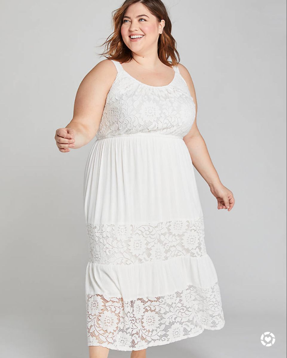 Plus Size White Summer Dress Dresses White Dress Summer Lace Inset [ 1200 x 961 Pixel ]