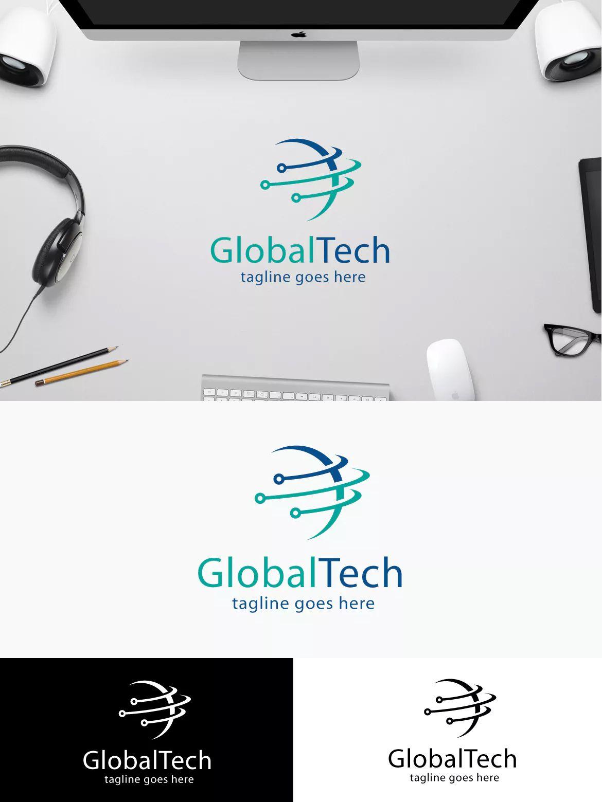 Global Tech by yip87 on Envato Elements | Global logo, Tech