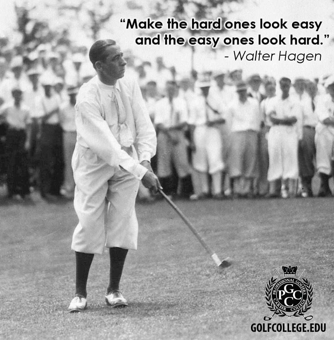 Today we tip our cap to Sir Walter Hagen, who was born on
