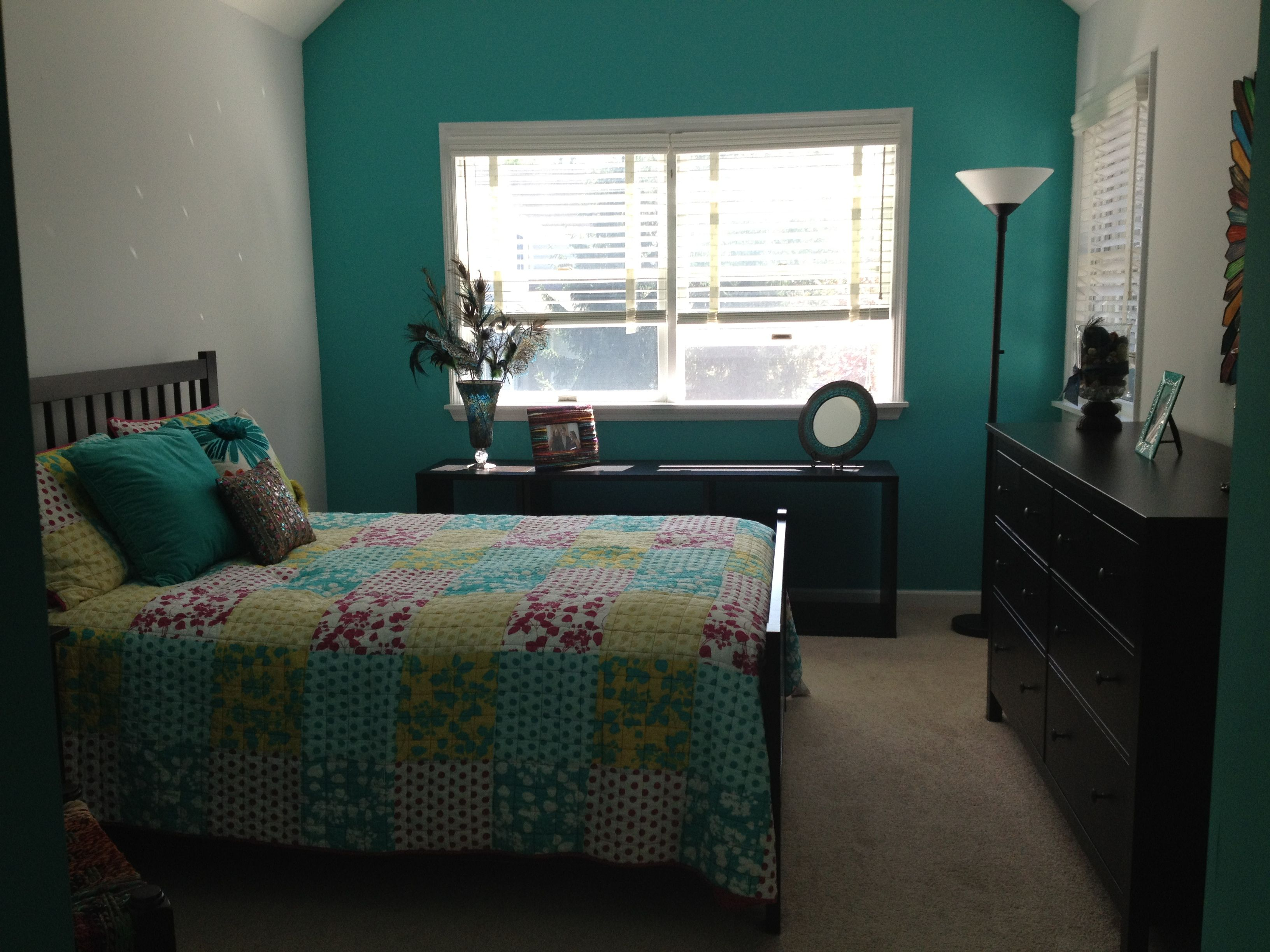 a teal bedroom for the home pinterest