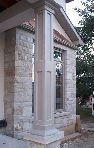 Non tapered pvc column wraps exterior columns for Wrap around porch columns