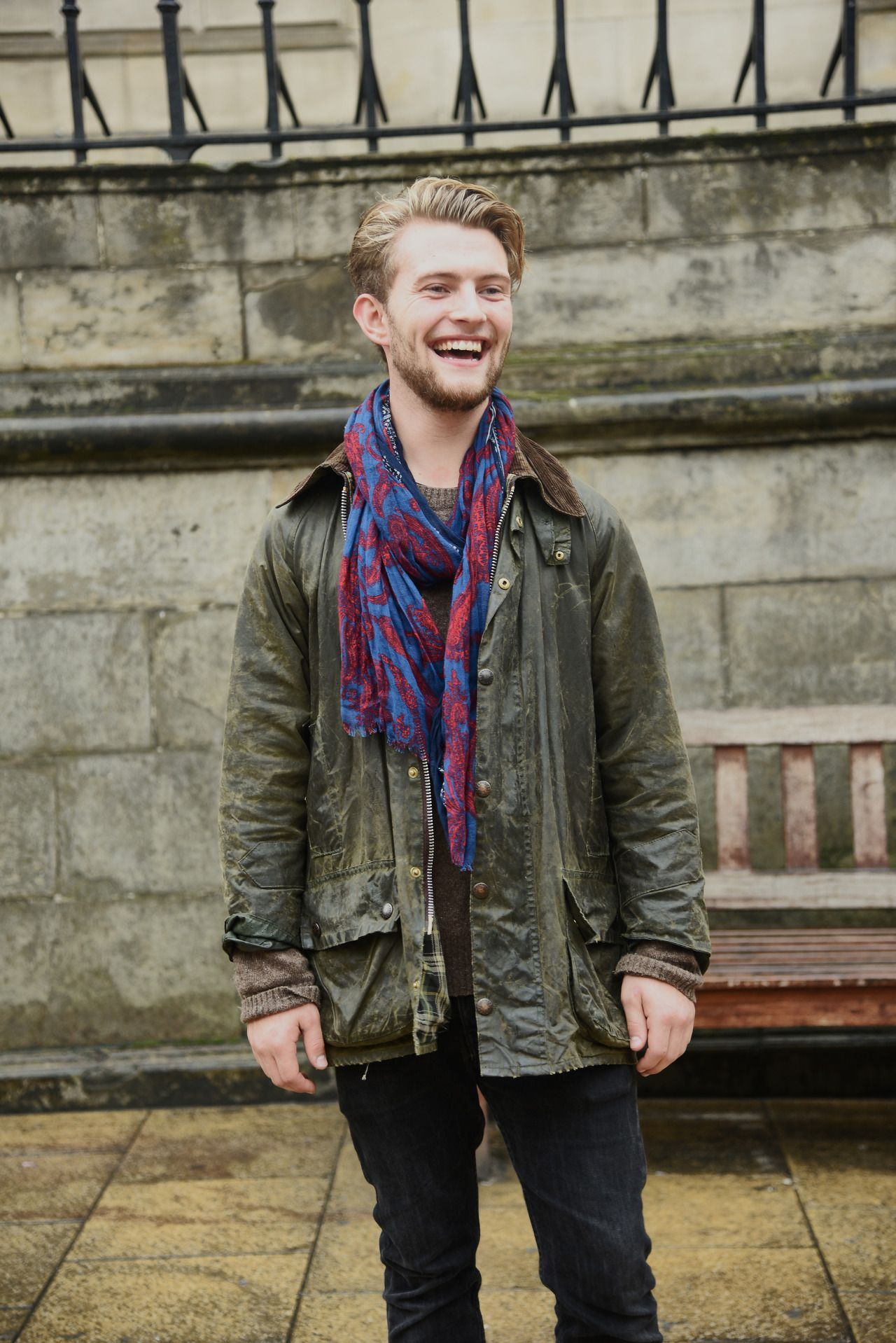 Barbour People — We bumped into Geir on the streets of Edinburgh...