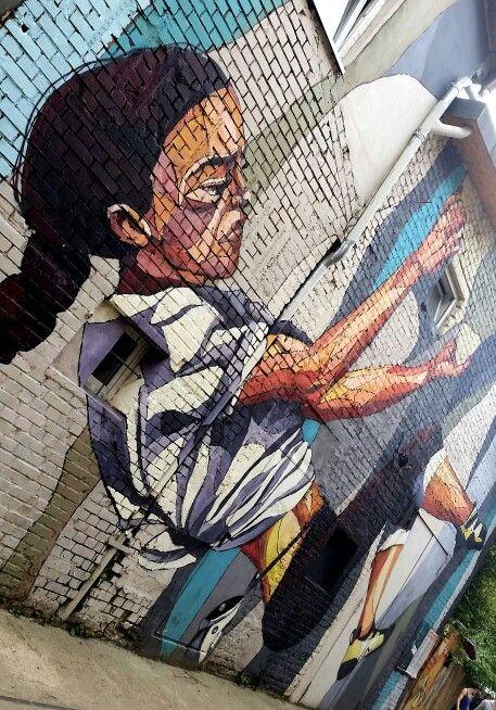 Street art right outside of der kegel, Berlin