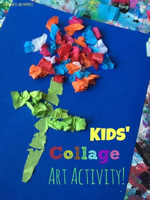 Kids Tissue Paper Collage Made Easy With Double Sided Tape