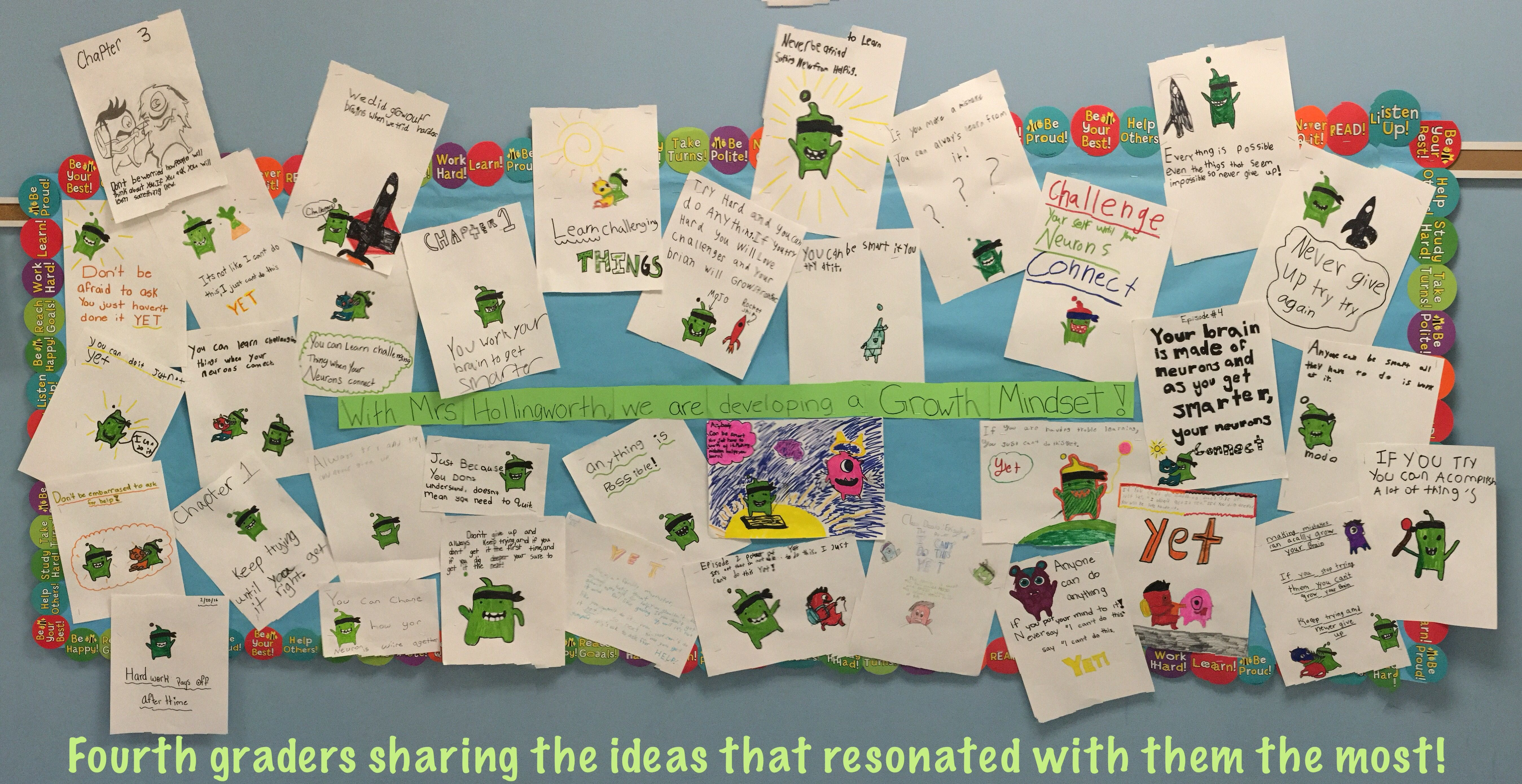 "With Mrs. Hollingworth, we are developing a Growth Mindset!   From the Class Dojo Big Ideas Website: ""In 1978, Stanford psychologist Carol Dweck made a profound discovery: children who belie…"