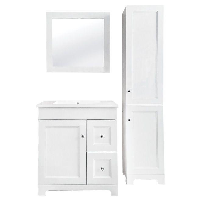 Unique White Linen Cabinet with Doors