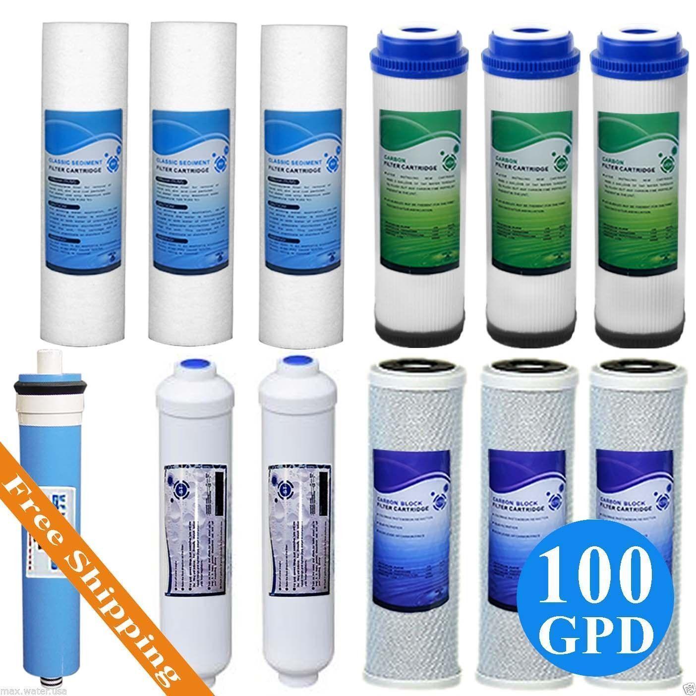 reverse osmosis replacement ro cartridge filter set 12 pcs w 100