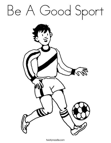 Be A Good Sport Coloring Page Twisty Noodle Sports Coloring