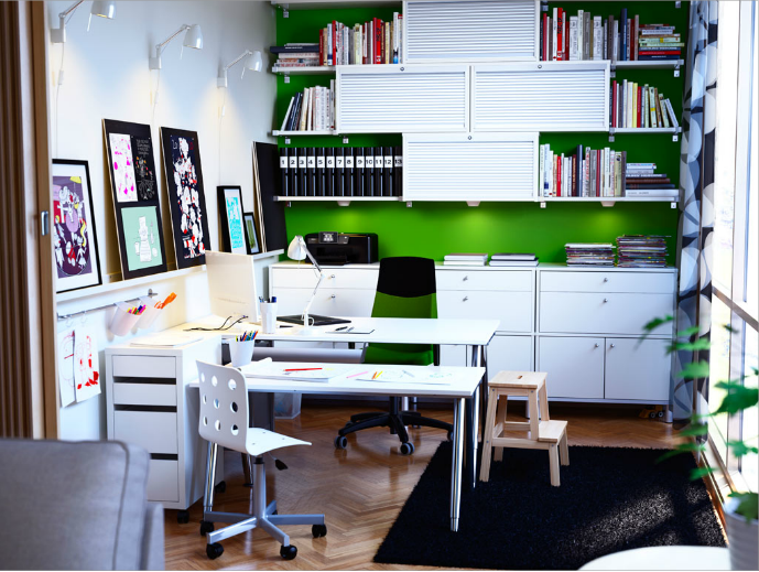 Ikea Idea 1 Ikea home office, Home office design, Home