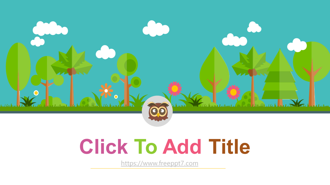 Cartoon Forest Powerpoint Template For Children Theme This Is A Cartoon Forest Background Ppt Templat Powerpoint Template Free Powerpoint Templates Powerpoint