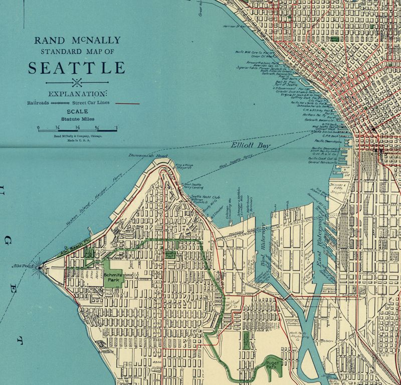 Vintage Seattle  Map model for Benton  BOOK 1  The Long Way