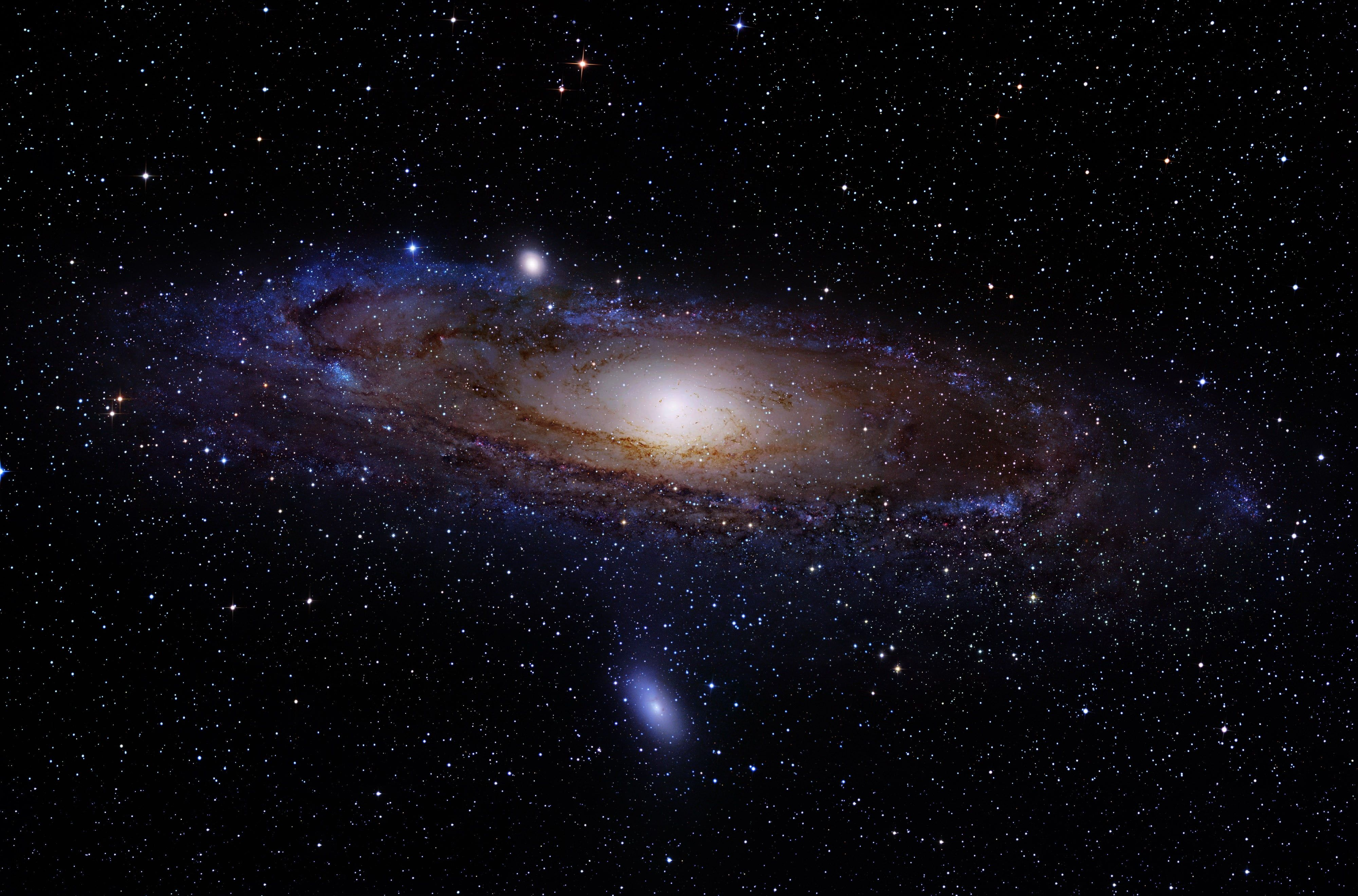 milky way Andromeda space galaxy Messier 31 Messier 110