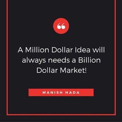The prerequisite for a million dollar idea