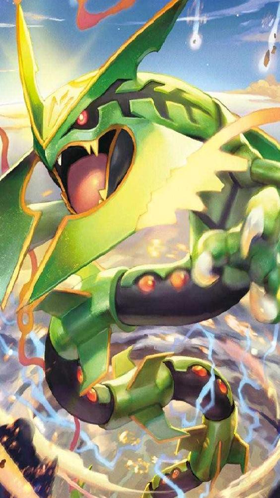 Shiny Rayquaza Wallpaper Google Search Mega Rayquaza Pokemon Rayquaza Pokemon