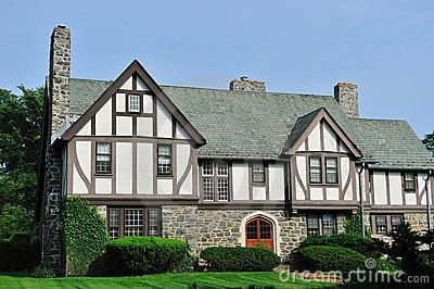 English Tudor Style Home English Tudor House Exterior Royalty Free Stock Photography Image