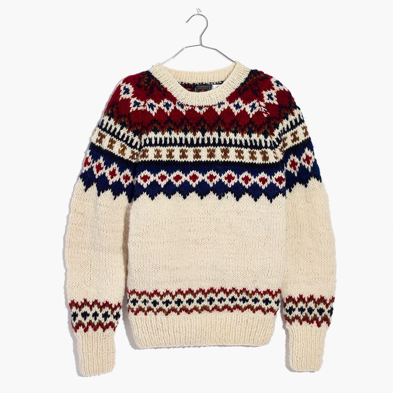 Madewell womens chamula fair isle pullover sweater madewell