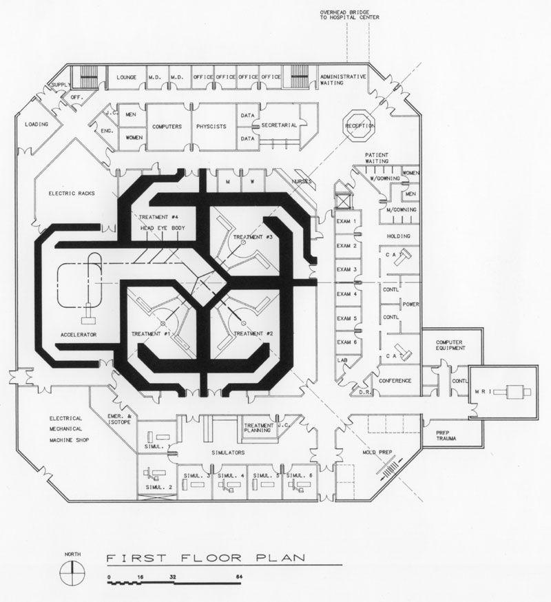 Oncology Center Floor Plans Proton Cancer Treatment