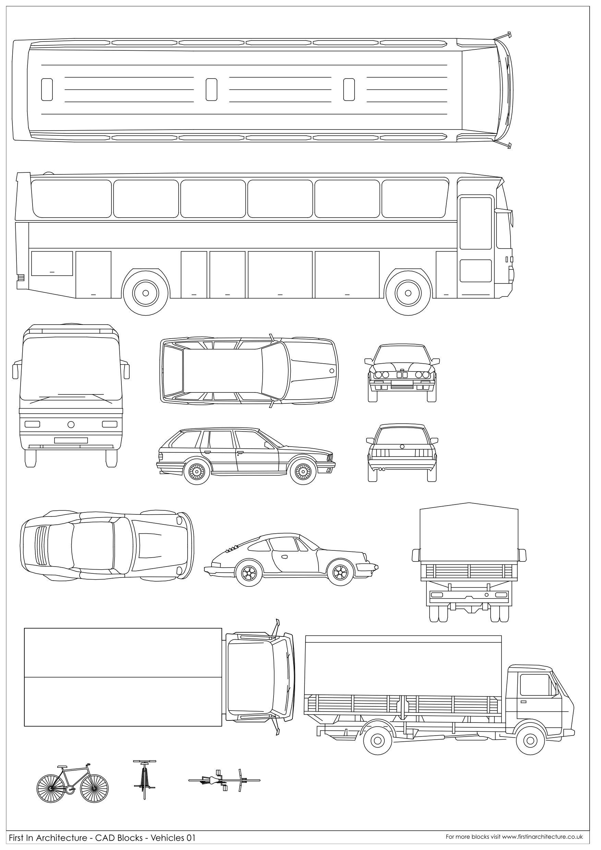 Meuble Salle De Bain Dwg ~ cad block vehicles dwg pinterest