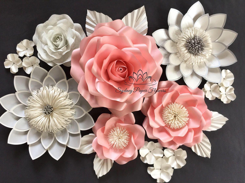 Paper Flower Backdrop Rose Lotus Paper Flower Wall Wedding Backdrop