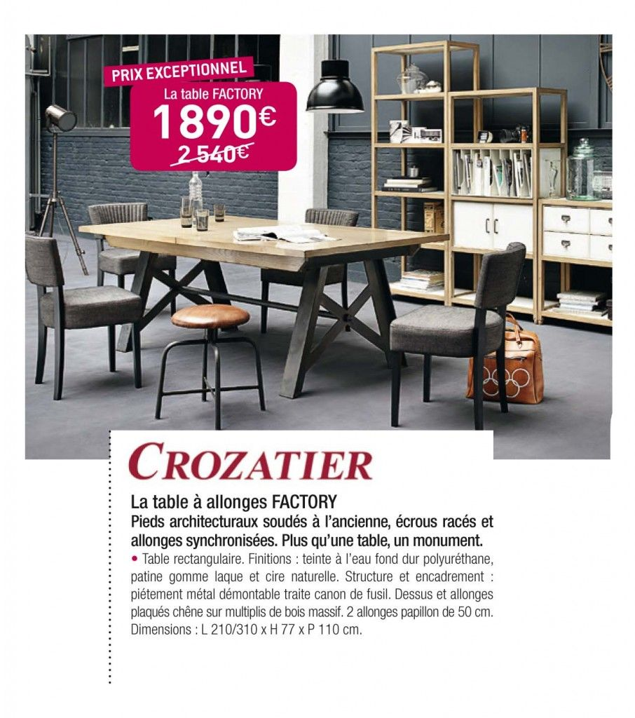 Simple table factory crozatier with salle a manger crozatier - Crozatier salle a manger ...