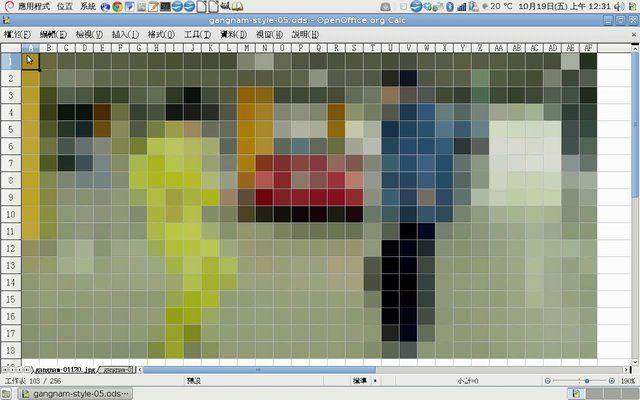 Gangnam Style, Calc Stop-Motion Pinterest - open office spreadsheet